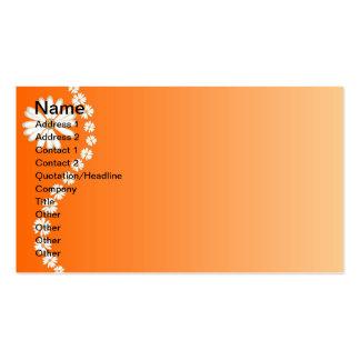 Orange daisies business card template