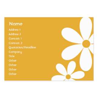 Orange Daisies - Chubby Pack Of Chubby Business Cards