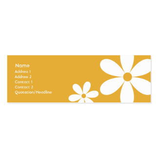 Orange Daisies - Skinny Pack Of Skinny Business Cards