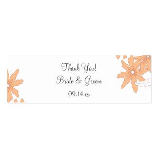 Orange Daisies Wedding Favor Tag Business Card