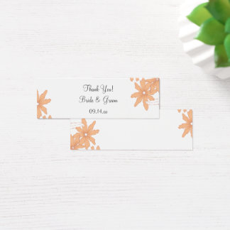 Orange Daisies Wedding Thank You Favor Tag