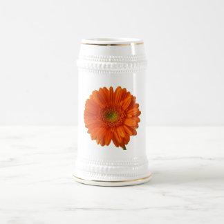 Orange Daisy Beer Stein Coffee Mugs