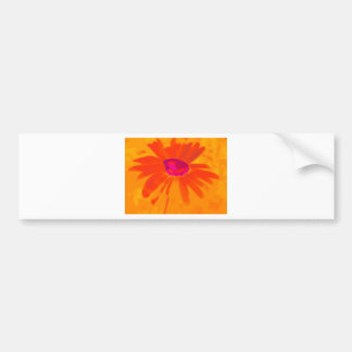 Orange Daisy Bumper Sticker