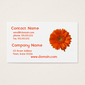 Orange Daisy Business Card