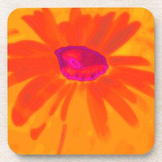Orange Daisy Coaster