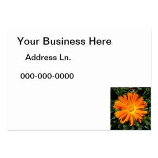 Orange Daisy design Customizable Business Card