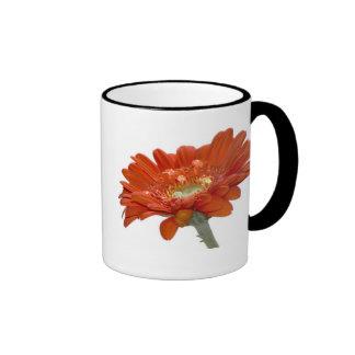 Orange Daisy Gerbera Flower Mug