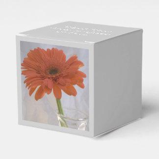 Orange Daisy in Vase Wedding Wedding Favour Box