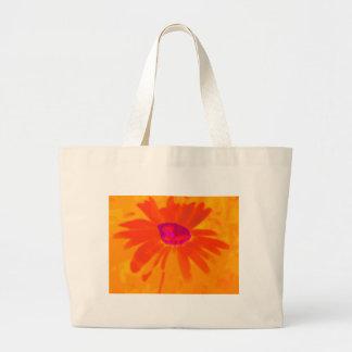 Orange Daisy Large Tote Bag