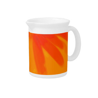 Orange Daisy Pitcher