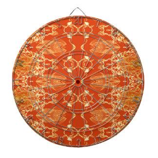 orange dartboard