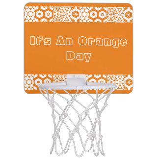 Orange Day Geometric Mini Basketball Hoop