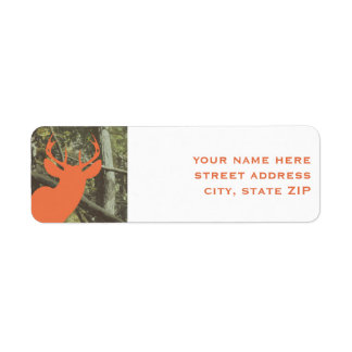 Orange Deer Hunting Camouflage Address Labels