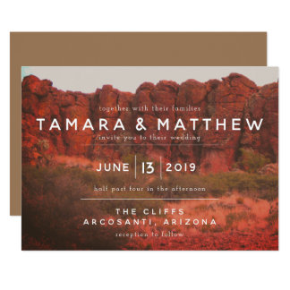 Orange Desert Rocks Invitations