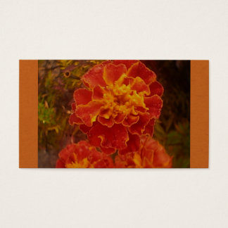 Orange Dew Marigold Business Card