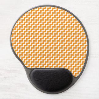 Orange Diagonal Chevron Stripes Mousepad Gel Mouse Mats