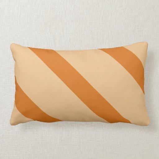 Orange Diagonal Stripe American Mojo Throw Cushion Pillow