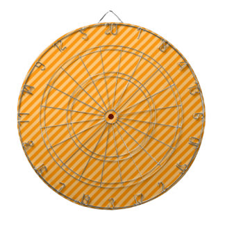Orange Diagonal Stripes; Striped Dartboard