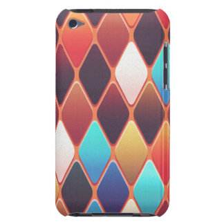 Orange Diamond Mosaic Barely There iPod Case