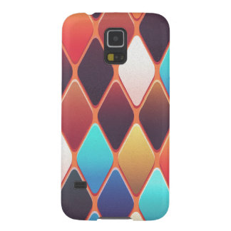 Orange Diamond Mosaic Galaxy S5 Cases