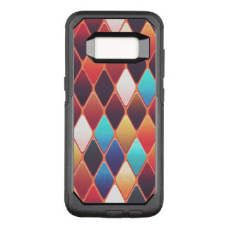Orange Diamond Mosaic OtterBox Commuter Samsung Galaxy S8 Case