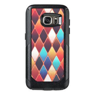 Orange Diamond Mosaic OtterBox Samsung Galaxy S7 Case