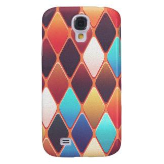 Orange Diamond Mosaic Samsung Galaxy S4 Case