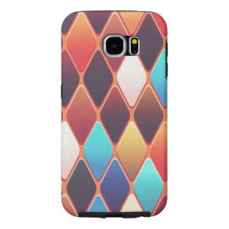 Orange Diamond Mosaic Samsung Galaxy S6 Cases