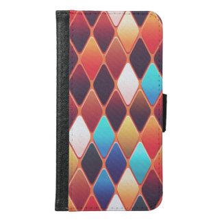 Orange Diamond Mosaic Samsung Galaxy S6 Wallet Case