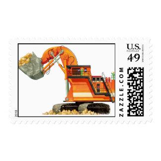 Orange Digger Postage Stamps