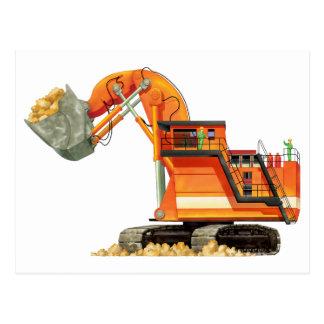 Orange Digger Postcard