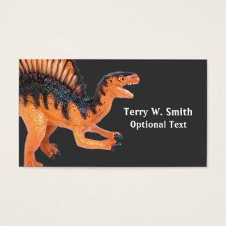 Orange Dinosaur Business Card