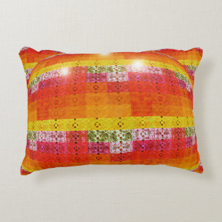 Orange Disco Ball Elegant Pattern Decorative Cushion