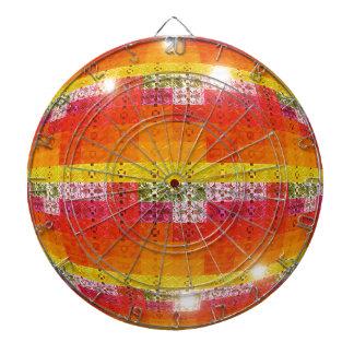 Orange Disco Ball Pattern Dartboard