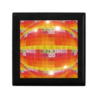Orange Disco Ball Pattern Gift Box