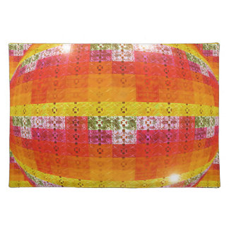 Orange Disco Ball Pattern Placemat