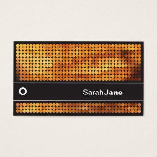 Orange Disco LIghts Business Card