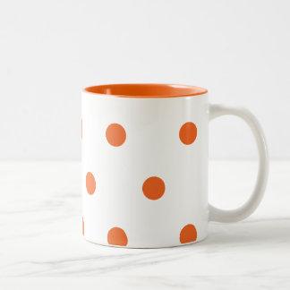 Orange Dots Mug