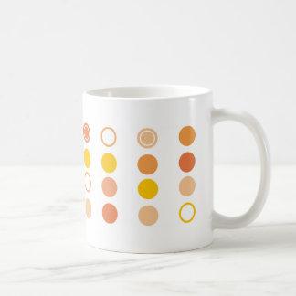 orange dotted mug