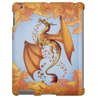 Orange Dragon of Autumn Nature Fantasy Art