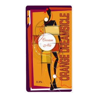 Orange Dreamsicle Cream Ale Shipping Label