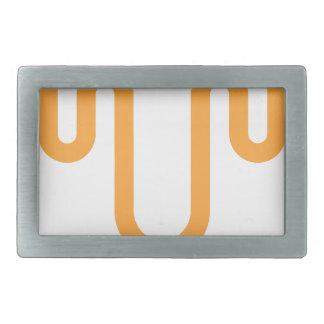 Orange Dripping Design Belt Buckle