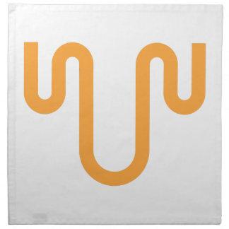 Orange Dripping Design Napkin