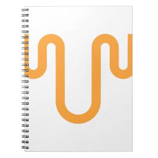 Orange Dripping Design Notebook