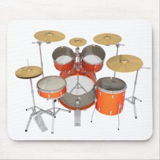 Orange Drum Kit: Mouse Pad