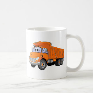 Orange Dump Truck Cartoon Coffee Mugs