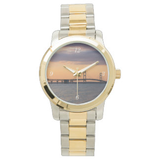 Orange Dusk Mackinac Bridge Watch
