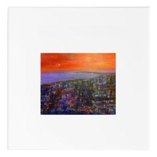 Orange Eclipse Acrylic Print