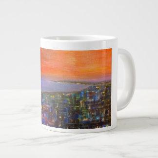 Orange Eclipse Large Coffee Mug