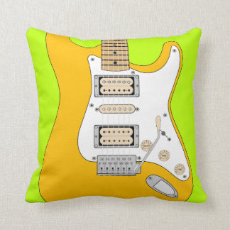 Orange Electric Guitar Cushion